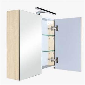 Refrigerateur 80 Cm De Large : aquazur meuble salle de bain haut double miroir avec led 80cm ~ Dailycaller-alerts.com Idées de Décoration