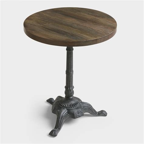 Metal And Wood French Bistro Accent Table  World Market. Kids Work Table. Pottery Barn Lap Desk. Coffee Table Stools. Desk Accessory Set. Adjustable Height Tables. Party Tables. Speedy Stand Up Desk. 7 Pool Table