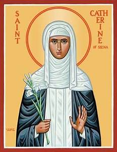 St. Catherine of Siena, Doctor of the Church, Patroness of ...