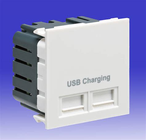 mk usb charging module white euro data coms module