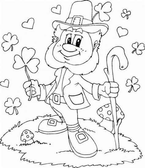 leprechaun coloring page clorcom coloring page love