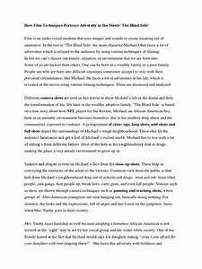 The Blind Side Essay Extended Metaphor Essay The Blind Side Essay On  The Blind Side Essay On Belonging Book