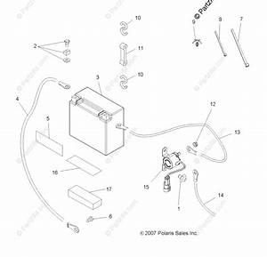 Polaris Atv 2009 Oem Parts Diagram For Electrical  Battery
