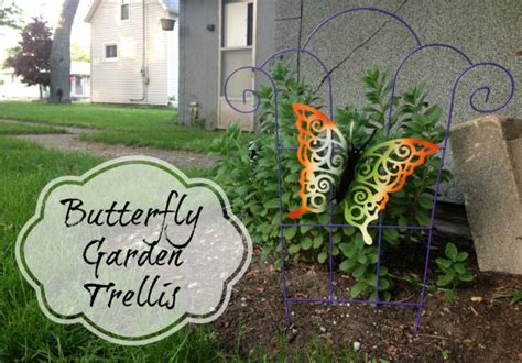 tutorial butterfly garden trellis dollar store crafts