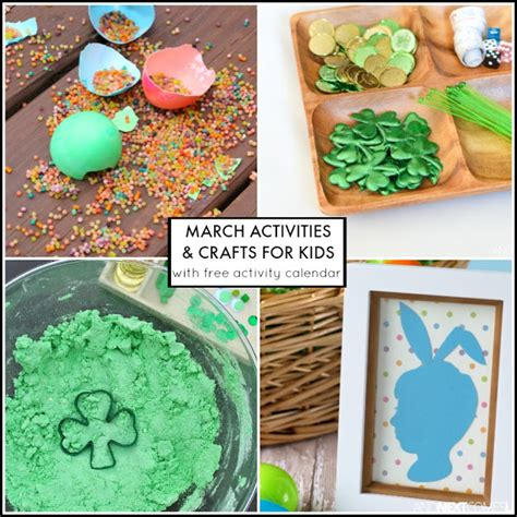 31 march activities for free activity calendar 167   free activity calendar for kids with st patricks day crafts activities easter ideas toddlers preschoolers square
