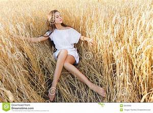 Girl In Wheat Field Stock Photo - Image: 50240955