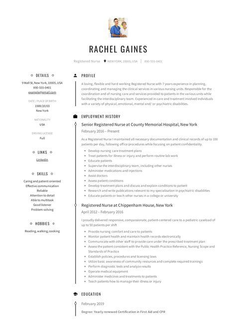 Resume For Registered by Registered Resume Sle Writing Guide 12