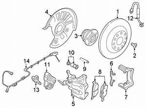 Volkswagen Atlas Abs Wheel Speed Sensor Wiring Harness  W