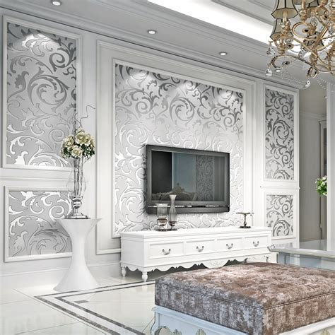 luxury damask gold silver wallpaper  walls