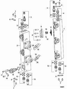 Mercury Marine 200 Hp  Dfi  Fuel Rail Components Parts
