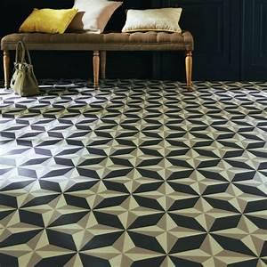 Dalle Vinyle Carreau De Ciment : sol salon mod les tendance c t maison ~ Premium-room.com Idées de Décoration
