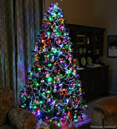 how many lights on christmas tree clear or multi color tree lights how about both