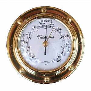 Spun Brass Rivet-Style Barometer | Jones Boat Chandlery