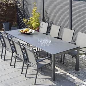 Salon De Jardin Puroplan Aluminium Gris Anthracite 10