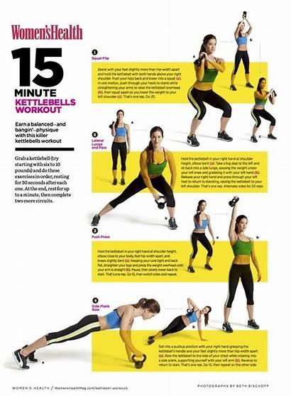 Kettlebell Workout Workouts Printable Exercise Kettlebells Minute