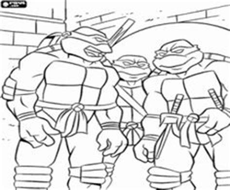 online coloring The four Ninja Turtles: Leonardo