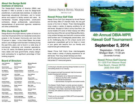 Hawaii Golf Tournament  Designbuild Institute Of America