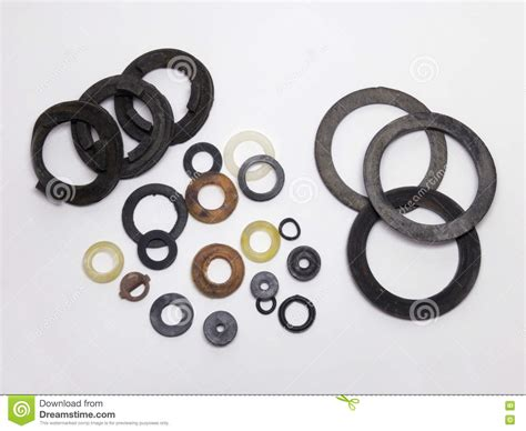 Samples Of Seal Gaskets Stock Image