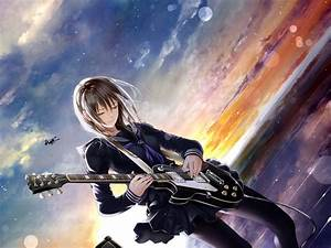 Anime Girl Guitarist by xXxNemesisxX on DeviantArt