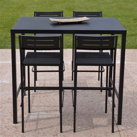 table haute cuisine design ensemble de jardin table haute tabouret dorio rd italia