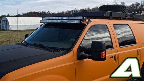 led light bar roof mount double stack ford super duty