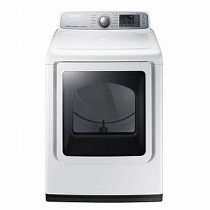 Samsung 7 4 Cu  Ft  Electric Dryer With Steam In White-dve50m7450w