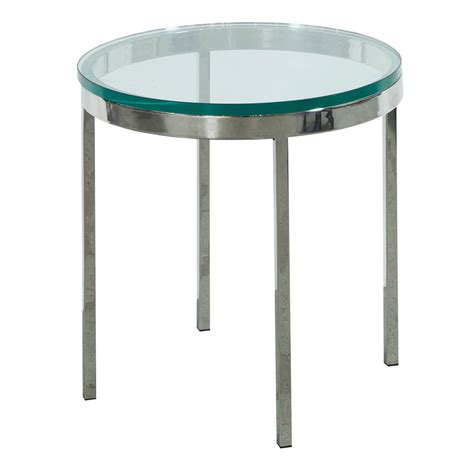 used round glass table top used round glass end table chrome national office