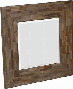Miroir Carr Avec Cadre En Teck Recycl Woody