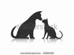 Dog Cat Silhouette Stock Photos, Images, & Pictures ...