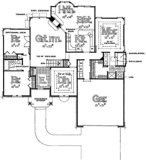 split ranch floor plans split bedroom ranch house plans