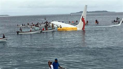 Passengers, crew safe after Air Niugini crashes into ...