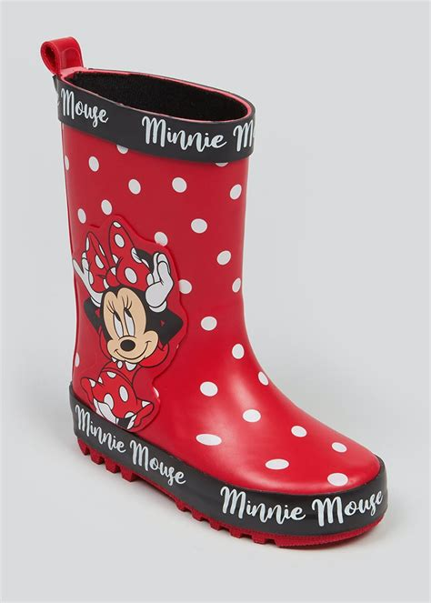 Kids Disney Minnie Mouse Wellies (Younger 4-12) – Red ...