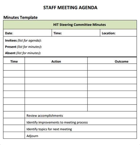 staff meeting agenda   samples examples format