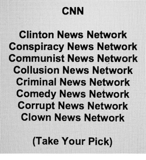 News Network by Cnn Clinton News Network Conspiracy News Network Communist