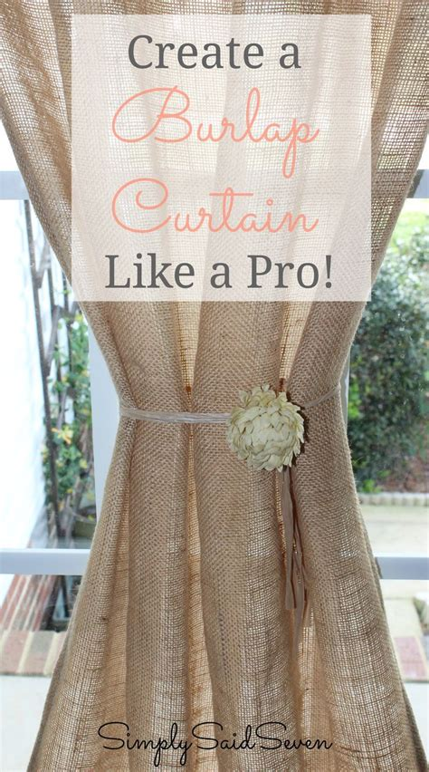 17 best ideas about burlap curtains on diy