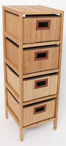 Kommode Mit Regal : standregal regal kommode schrank aus bambusholz mit 4 boxen schubladen ebay ~ Orissabook.com Haus und Dekorationen