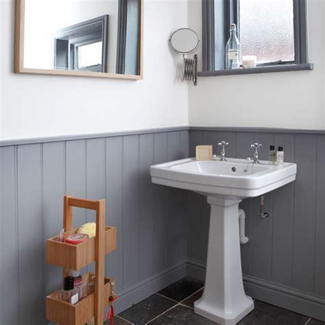 panelled bathroom ideas grey and white panelled bathroom bathroom decorating
