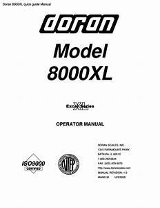 Doran 8000xl Quick Guide Manual Pdf