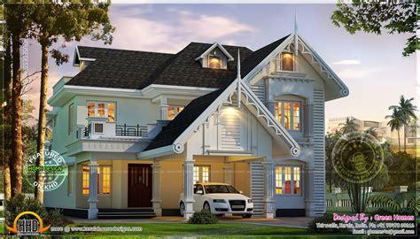 awesome european style house  kerala kerala home