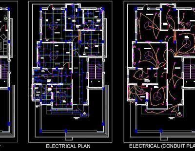 bhk house design autocad dwg file plan  design