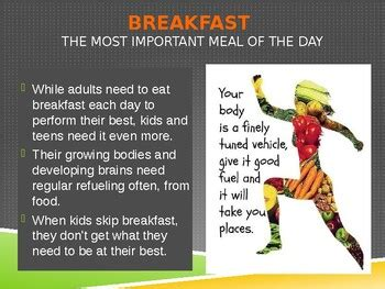 importance  eating  healthy breakfast   fcs