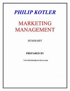 Marketing Management By Philip Kotler 14th Edition