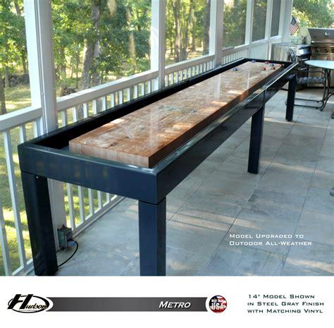 used outdoor shuffleboard table metro shuffleboard table product overview shuffleboard