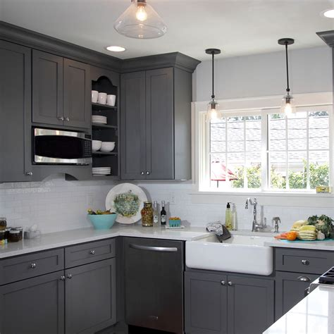 dark grey kitchen cabinets this gorgeous light french gray sw 0055 kitchen has us