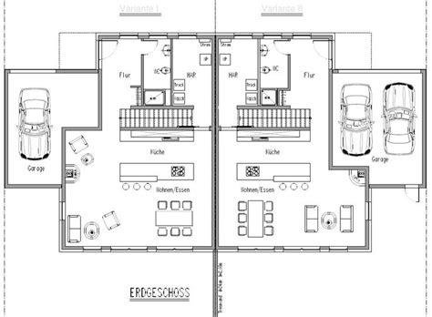 Grundriss Mit Treppe In Der Mitte by Doppelhaush 228 Lfte Eg Gerade Treppe Grundrisse Haus