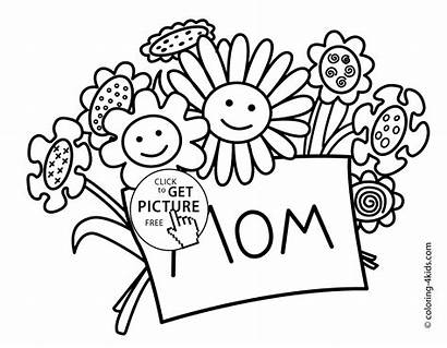 Coloring Pages Printable Mother Mothers Flowers