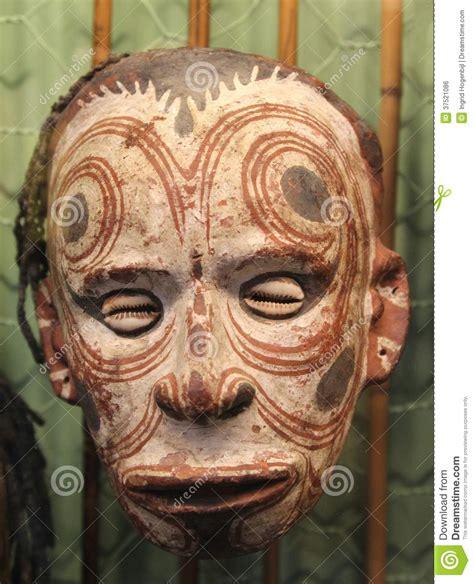 scary mask  shells  papua  guinea australia