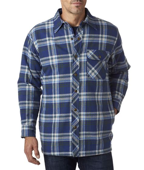 flannel shirt jacket with quilted lining bp7002 backpacker s flannel shirt jacket with quilt