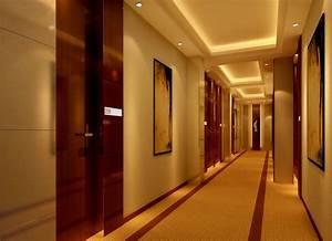 Yellow Minimalist Corridor Of Hotel