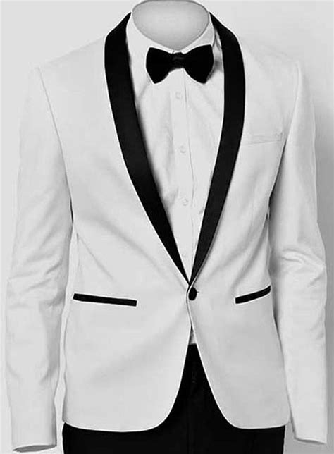 White Tuxedo Jacket Makeyourownjeans Made Measure